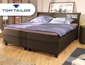 Modernes Boxspringbett Tom Tailor Color in Braun