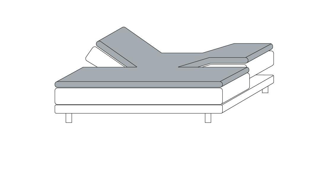 Topperbezug von Kneer für verstellbare Betten