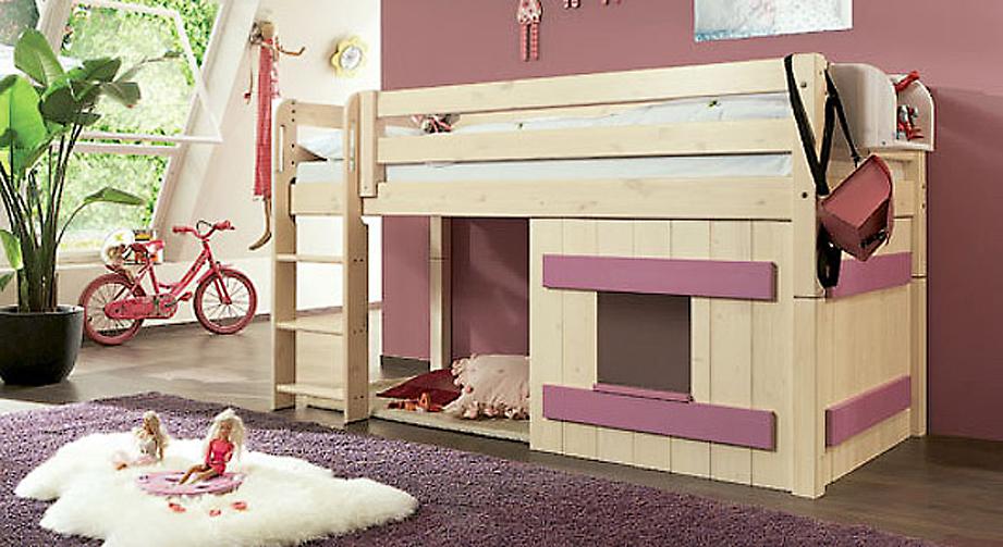 Umbau zum Mini-Hochbett Kids Paradise Holzverkleidung