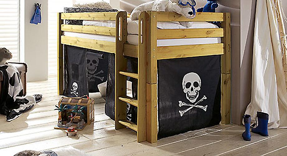 Umbau zum Mini-Hochbett Kids Paradise Spielvorhang