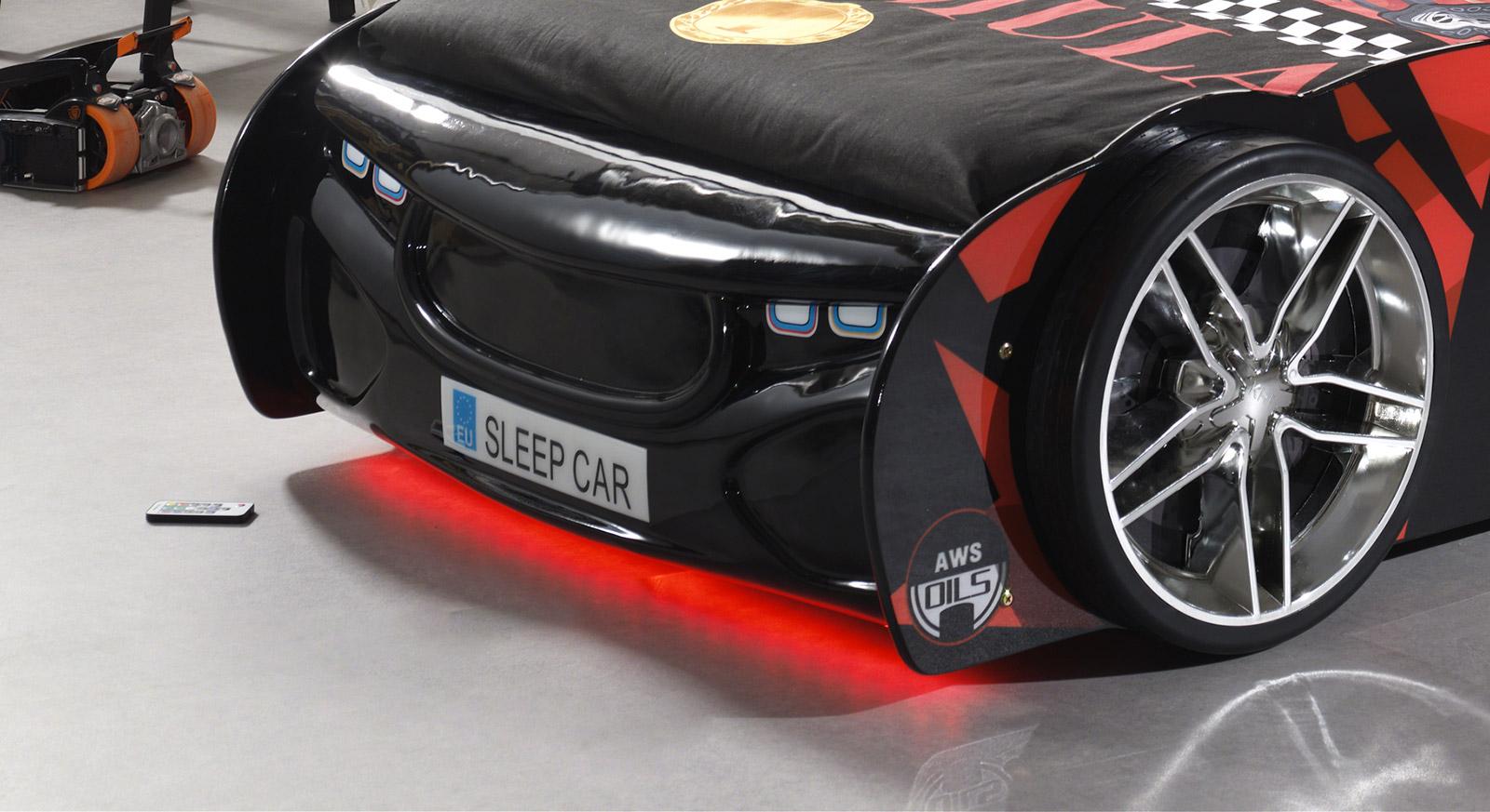 Cooles LED-Lichtband als Unterbodenbeleuchtung für Autobetten