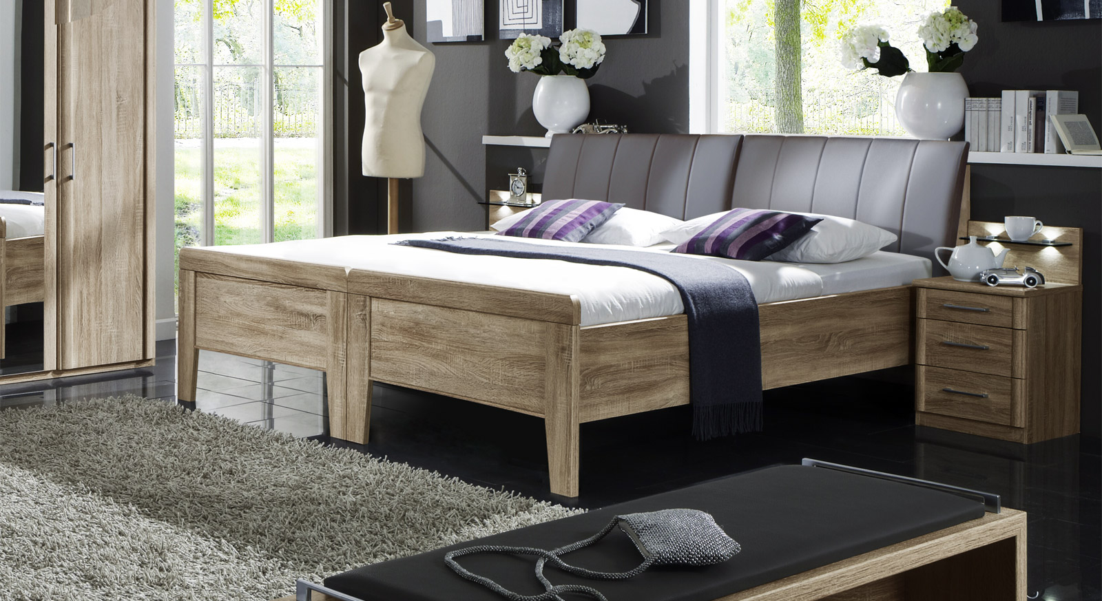 Verbindungsbeschlag für ein Doppelbett Runcorn