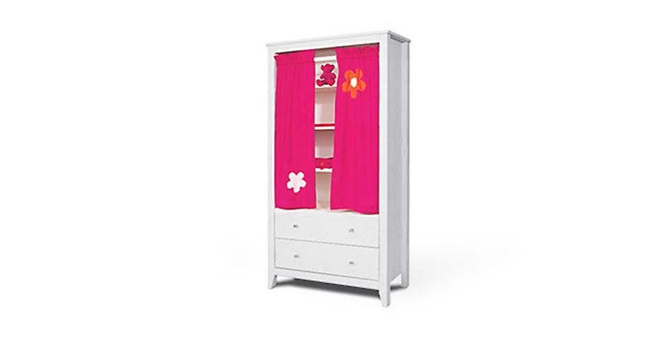 Vorhang-Kleiderschrank Kids Heaven mit Blumenmädchen-Design