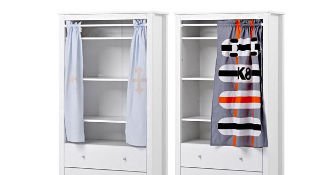 Vorhang-Kleiderschrank Kids Heaven mit ein- oder zweiteiligem Vorhang