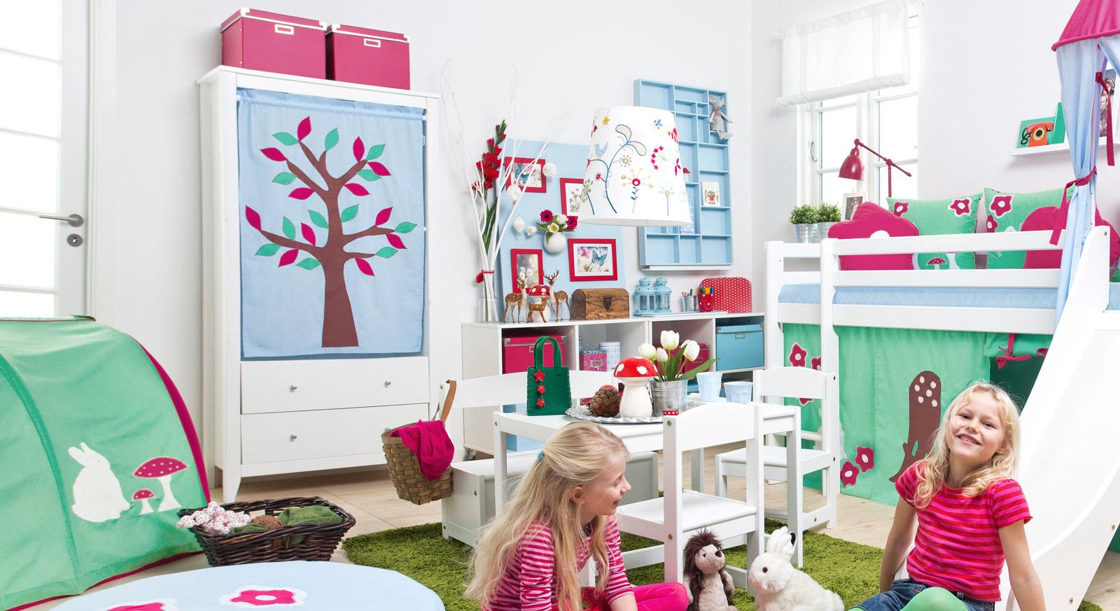 Moderner Vorhang-Kleiderschrank Kids Heaven für Kinder