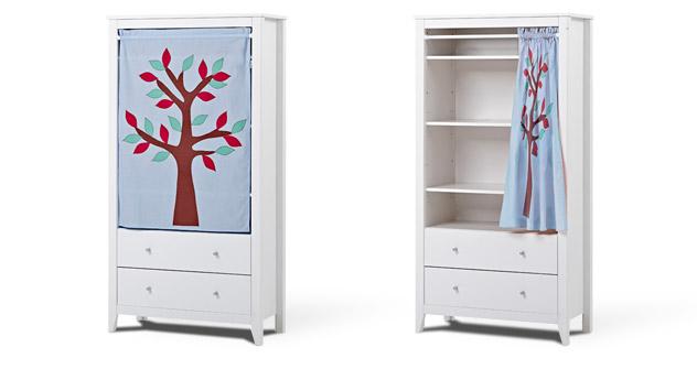 Passender Vorhang-Kleiderschrank Kids Heaven zum Rotkäppchen Zimmer