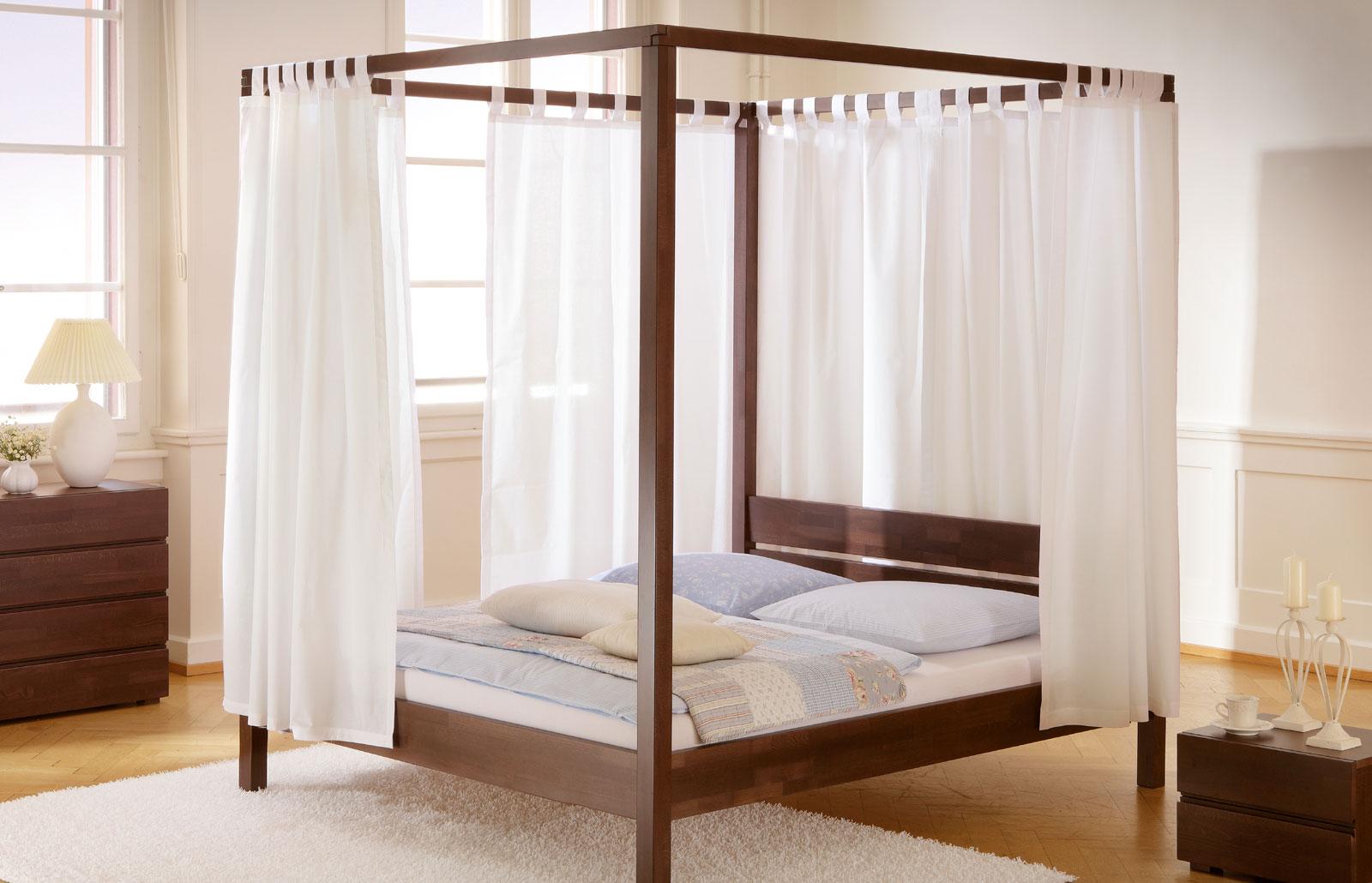 Vorhang-Set Almeria Weiß hochwertige Baumwolle