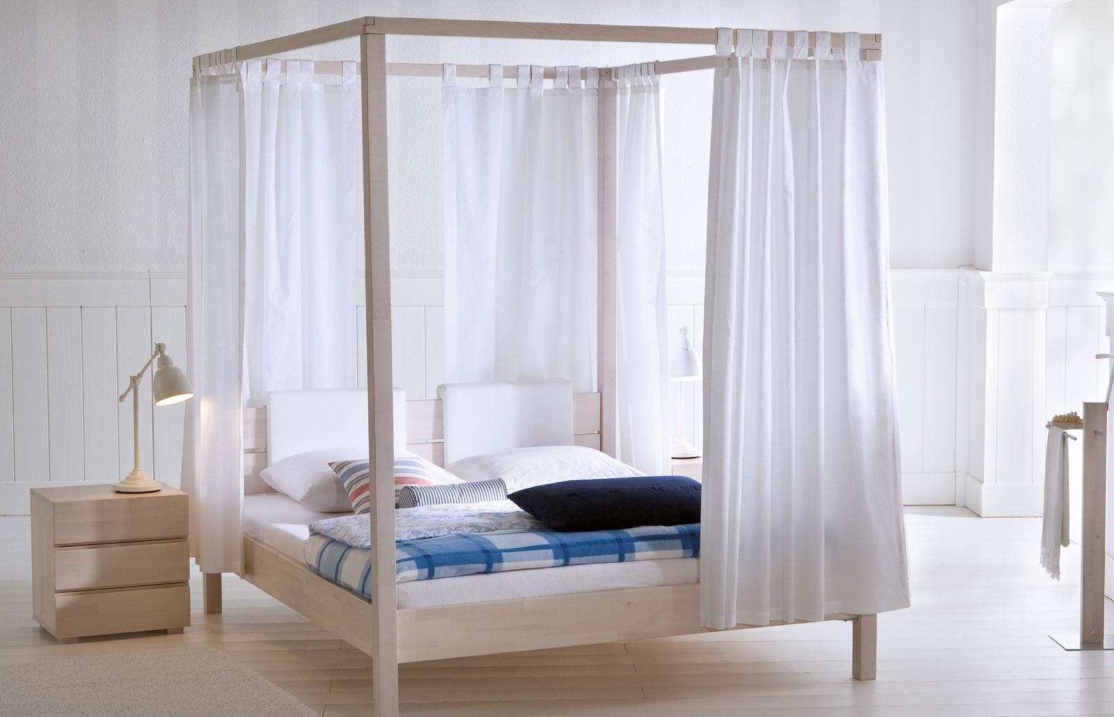 Vorhang-Set Almeria Weiß tolle Ergänzung zum Himmelbett