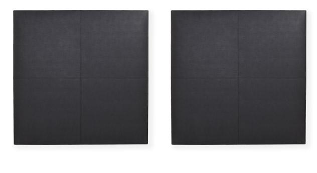 Wandpaneel in Schwarz freigestellt