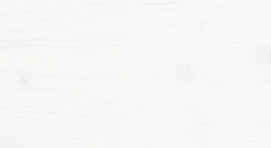 Weiß lackiert mit leichter Holzstruktur