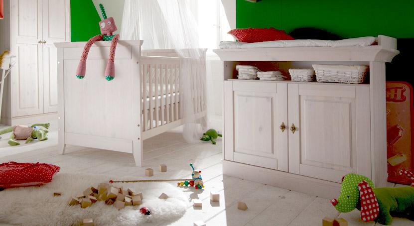 Wickelkommode Babys Paradise aus Holz in Weiß