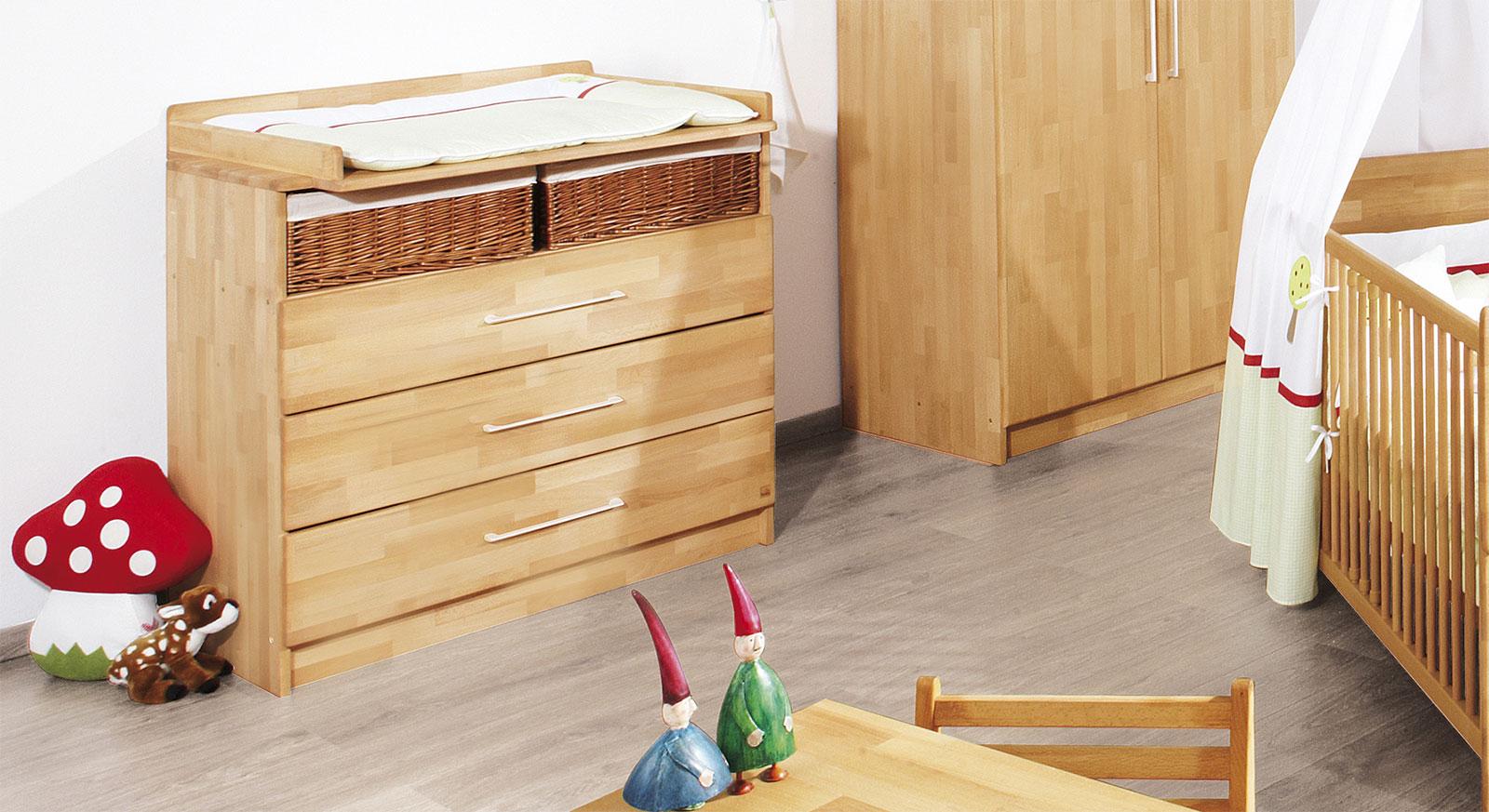 massivholz wickelkommode in ge ltem buchenholz natura. Black Bedroom Furniture Sets. Home Design Ideas