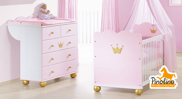 rosa wickelkommode mit wickelansatz prinzessin karolin. Black Bedroom Furniture Sets. Home Design Ideas