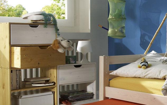 Wuerfelsystem Kids paradise 3 große Wuerfel Kombination mit Schubladen