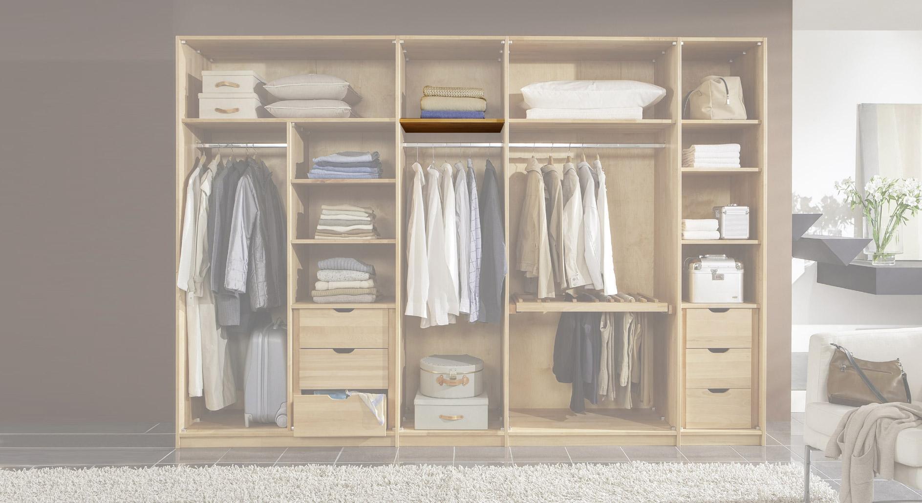 Kleiderschrank-Zubehör schmaler Fachboden