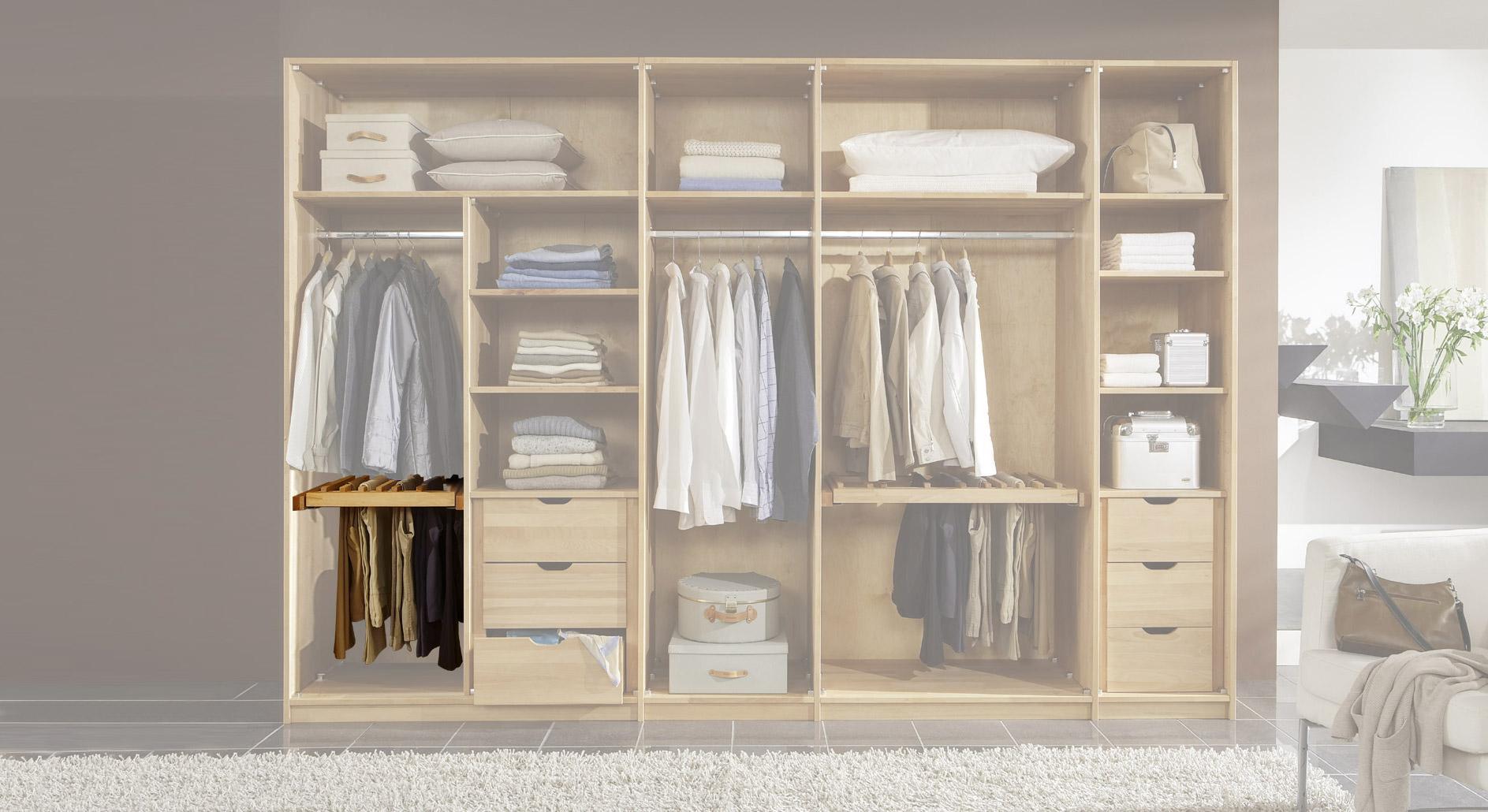 Hosenauszug für Kleiderschränke als Zubehör