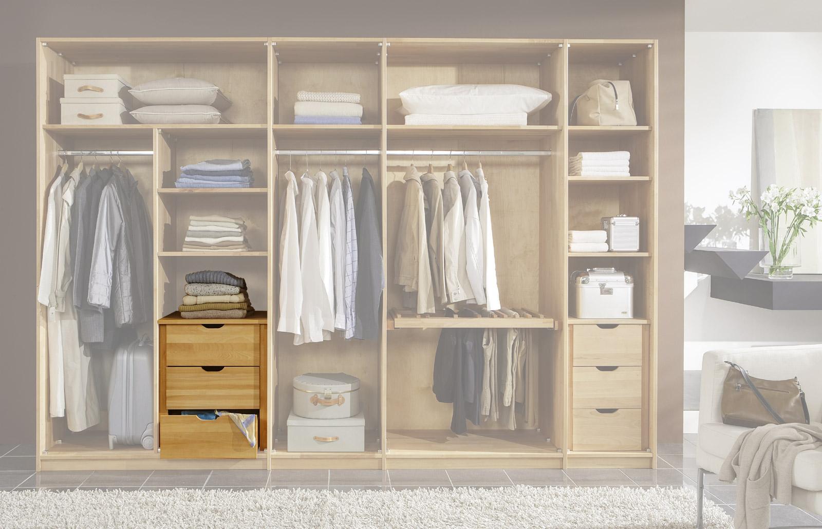 Zubehör für Kleiderschränke Schubladen