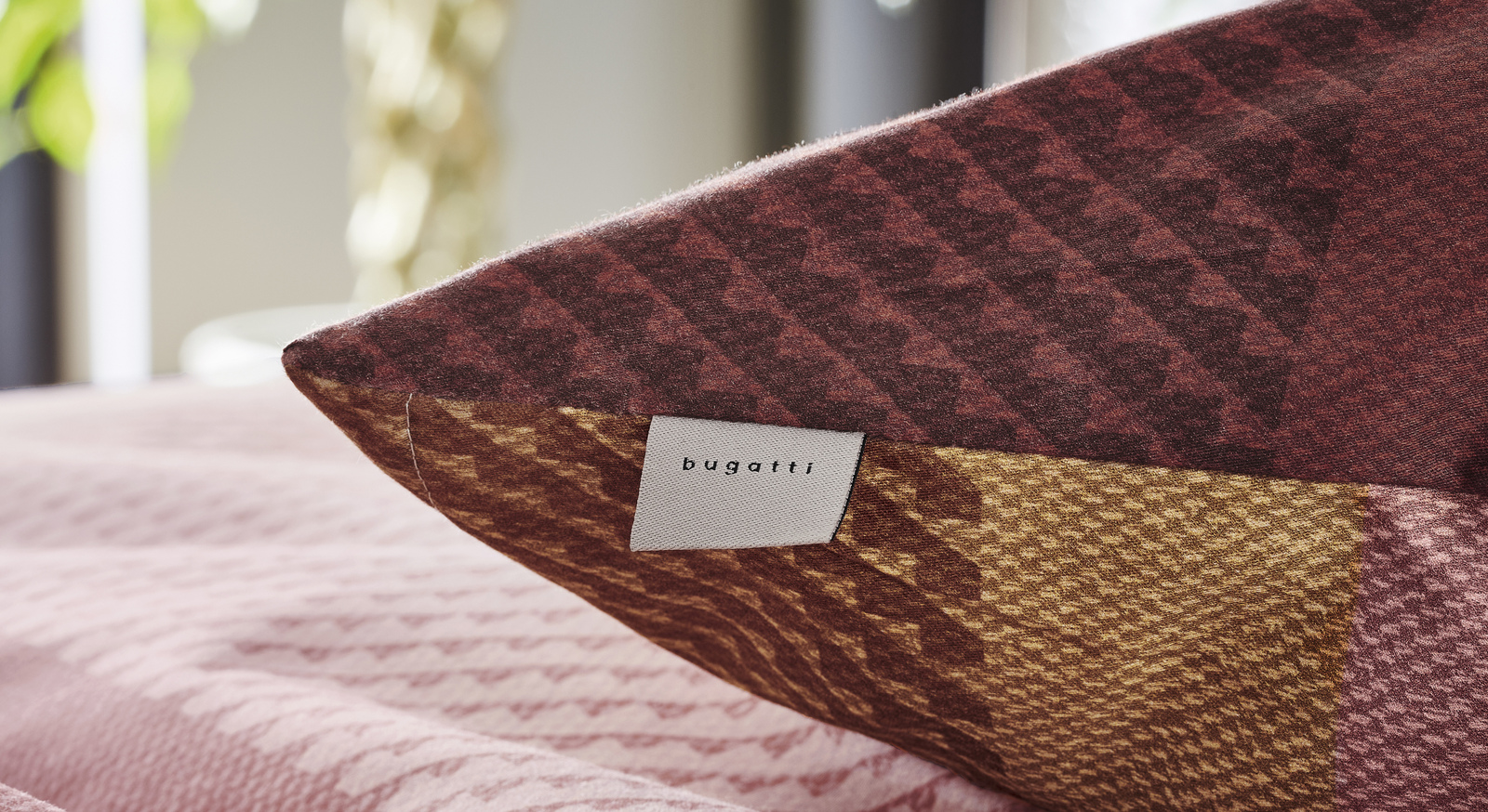 2-in-1-Bettwäsche Bugatti Streifen rosé-rot in Markenqualität