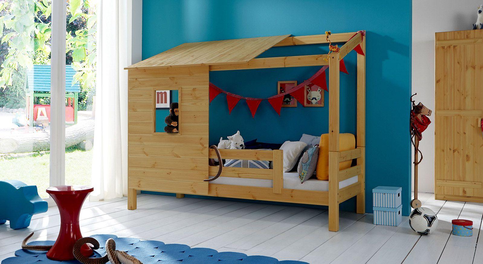 Massivholz-Abenteuerbett Kids Paradise in Kiefer gelaugt