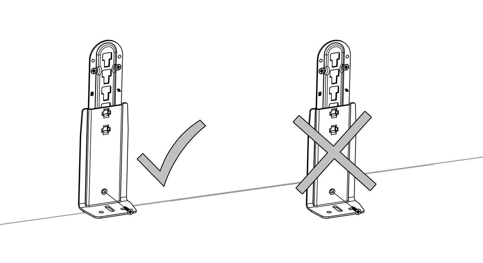 Die richtige Anbringung des Adapter-Sets zur Erhöhung der Einlegetiefe