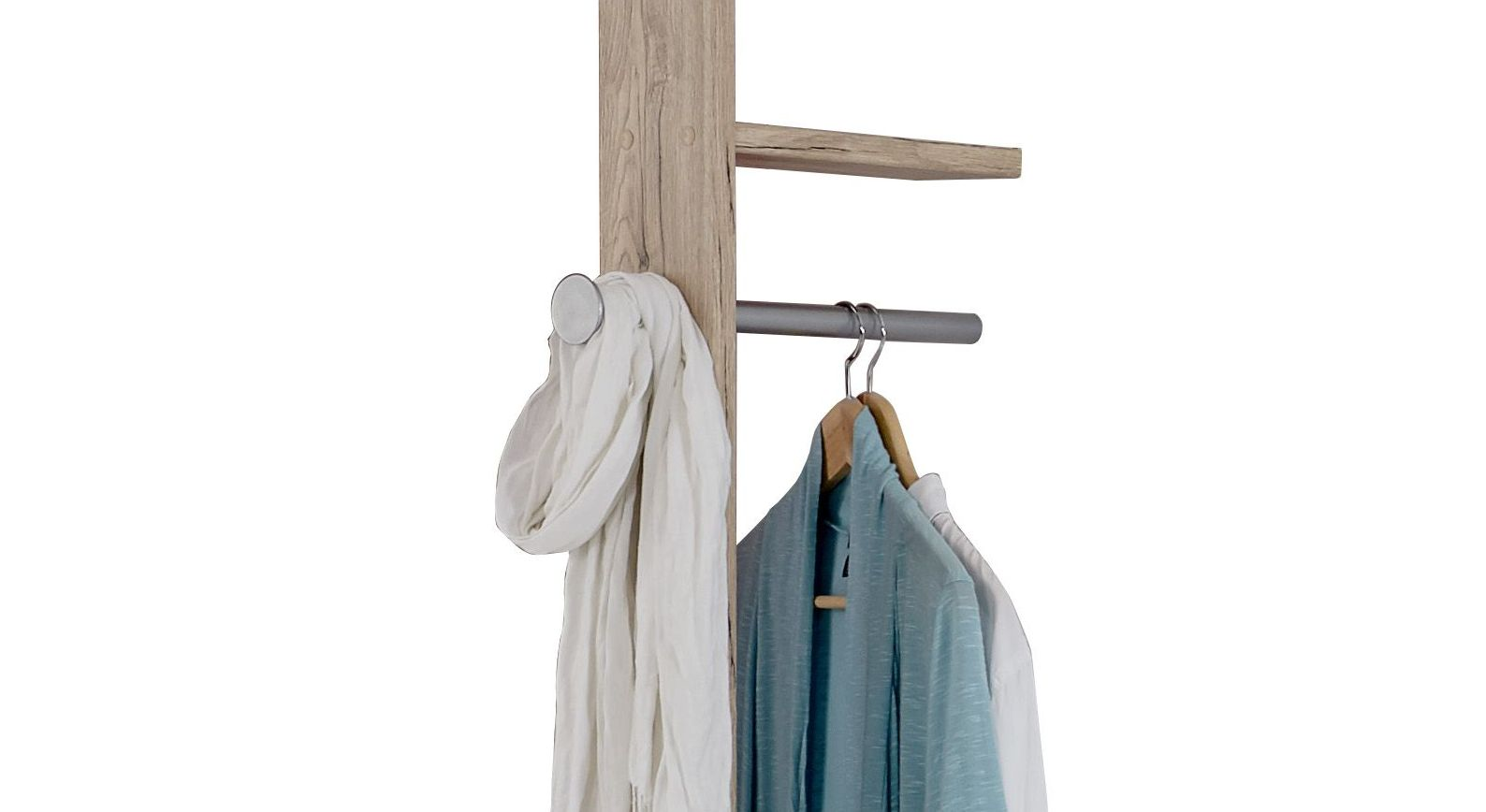 Anbau-Garderobe Tropea inklusive Metall-Kleiderstange