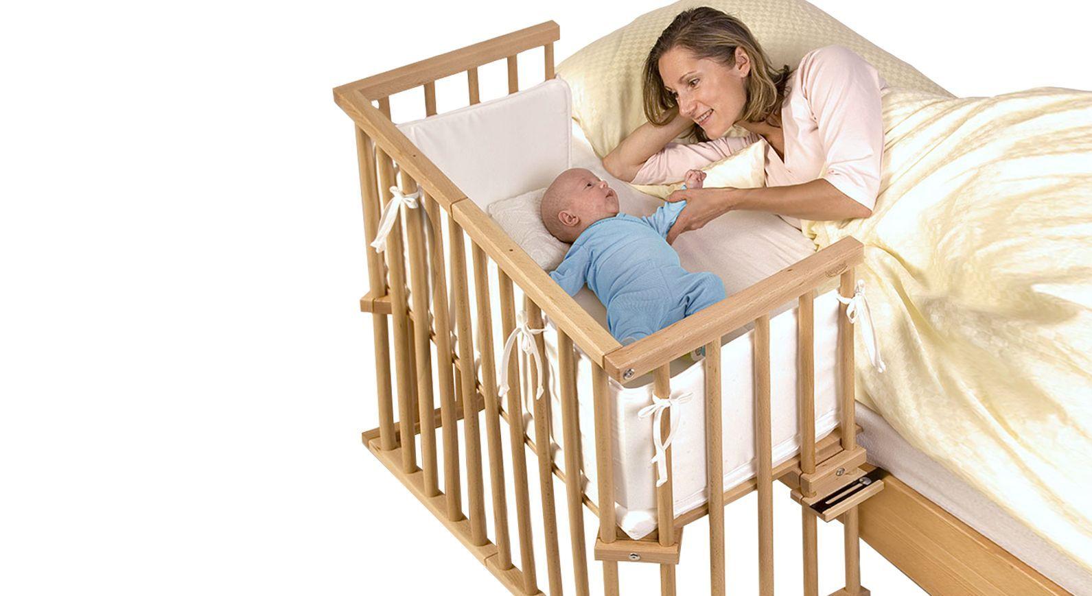 Anstellbettchen BabyBay Midi aus stabilem Echtholz