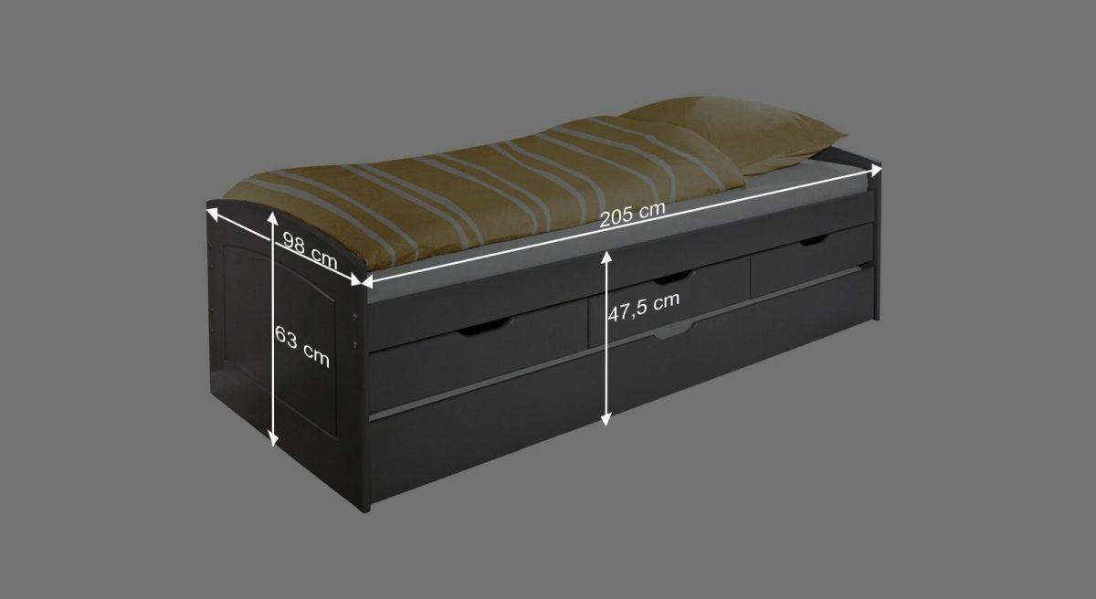 Ausziehbett Anzio mit praktischer Bettschublade