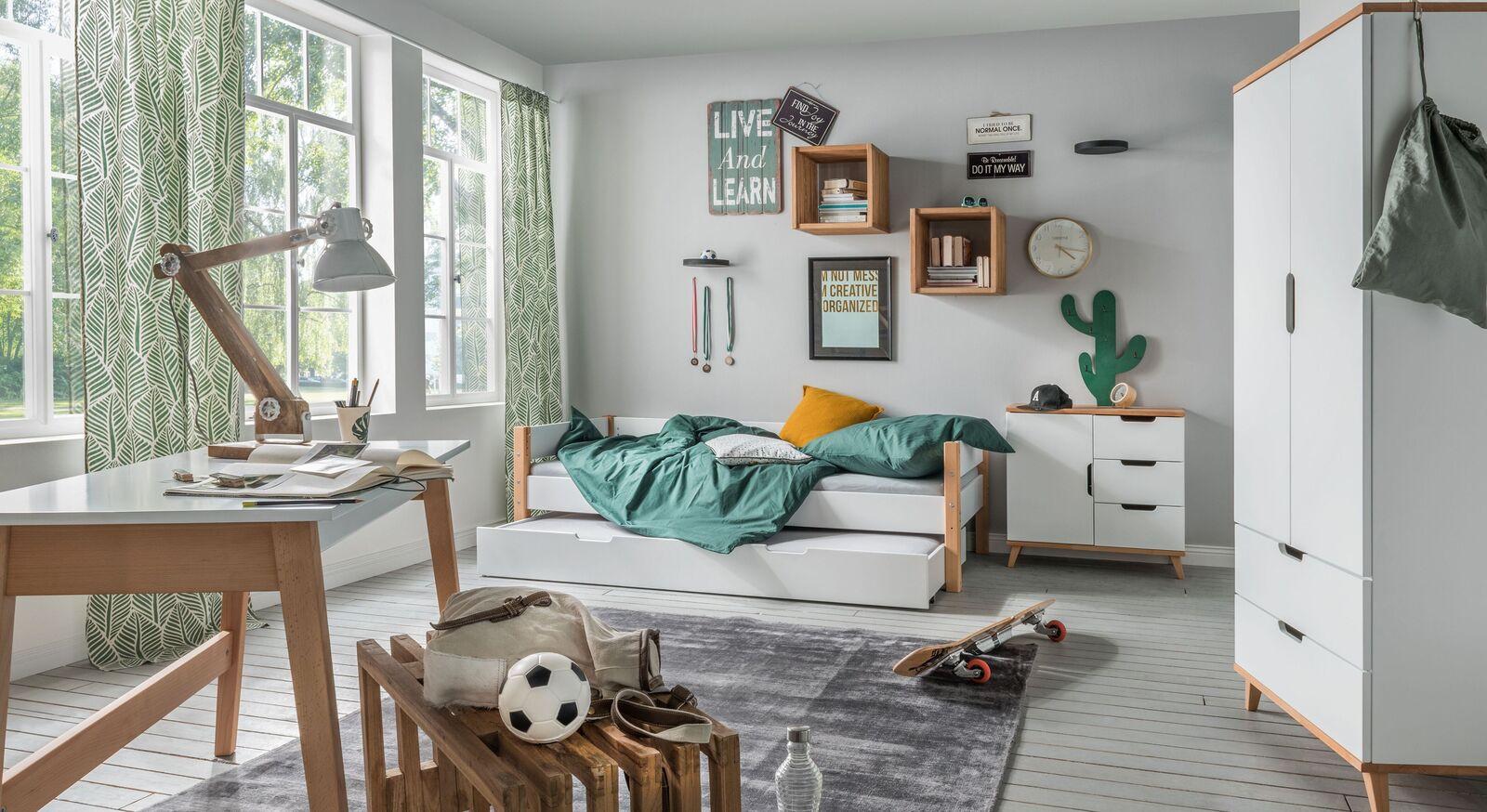 Ausziehbett Kids Nordic mit passenden Kinderzimmermöbeln