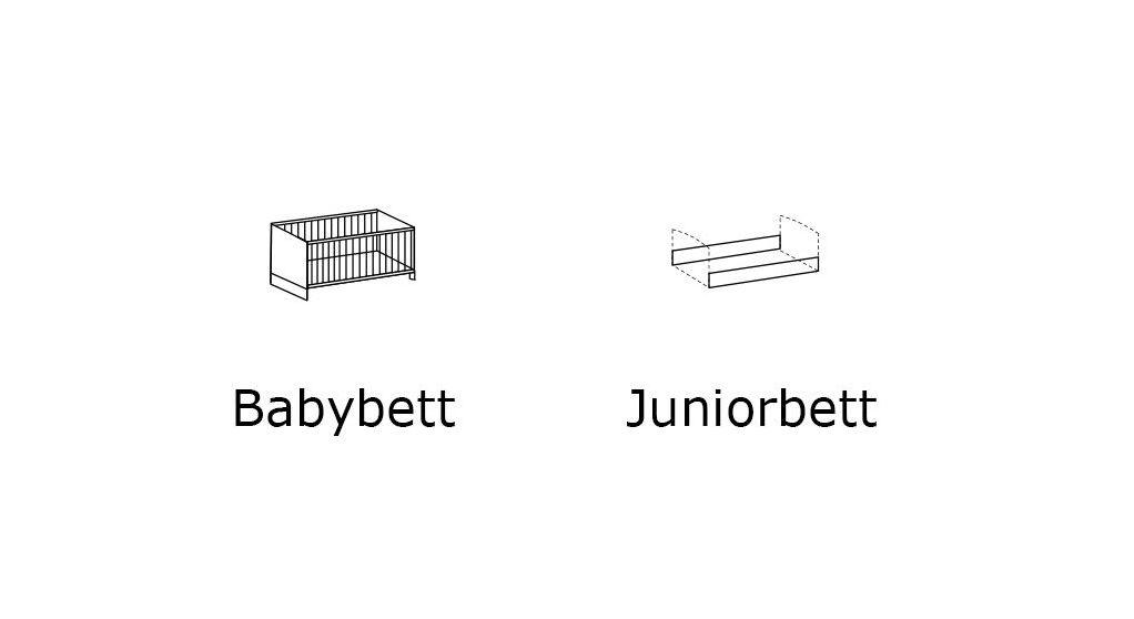 Grafik zum Babybett und Juniorbett Beano