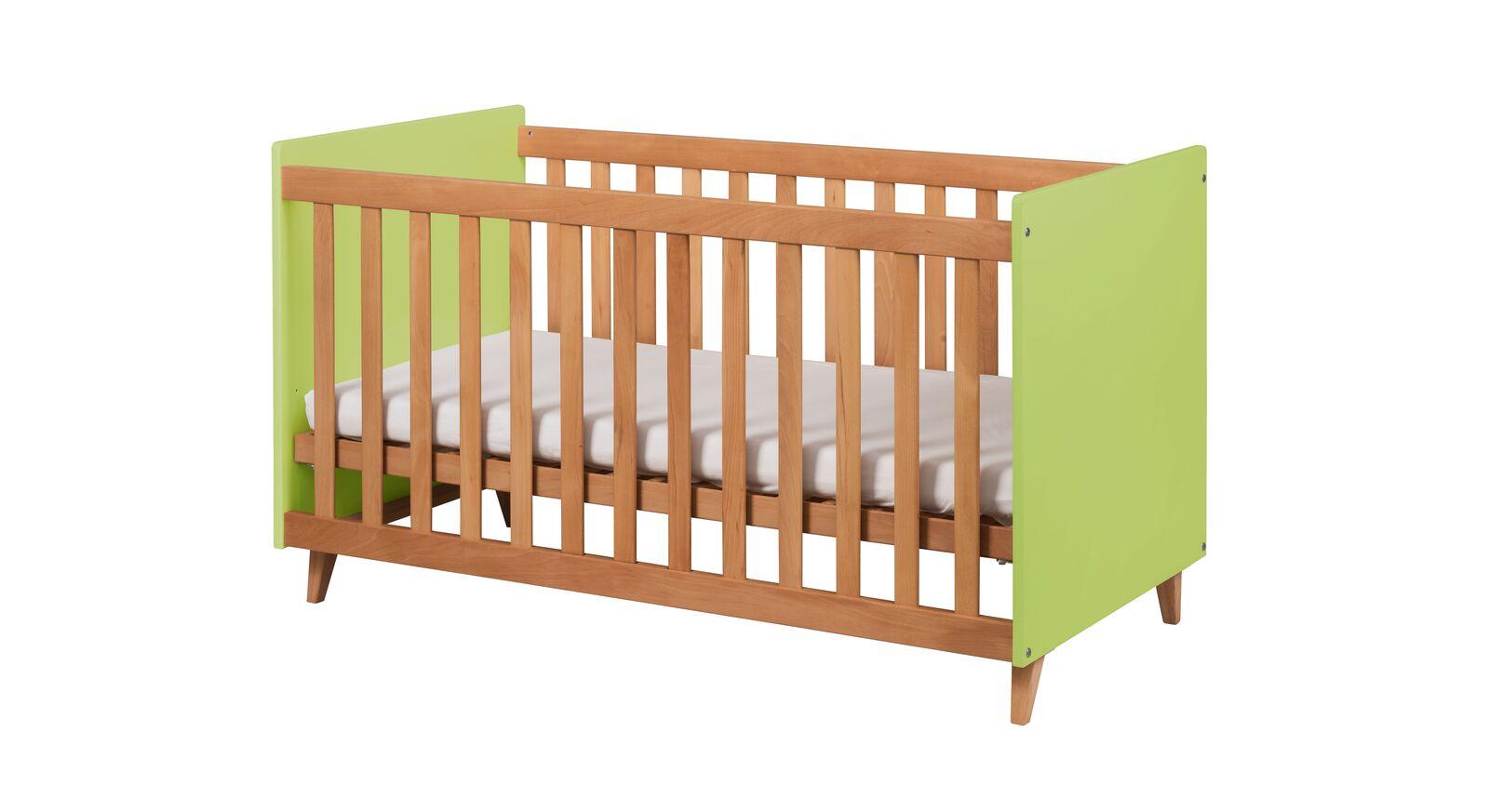 Babybett Kids Nordic mit grüner Dekor-Oberfläche