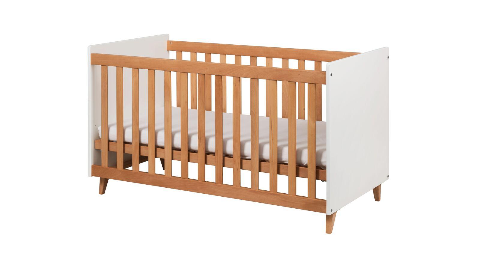 Babybett Kids Nordic aus weißem Dekor