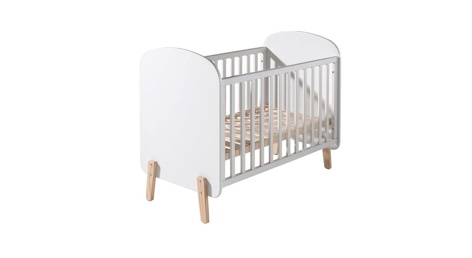 Babybett Maila aus weißem MDF