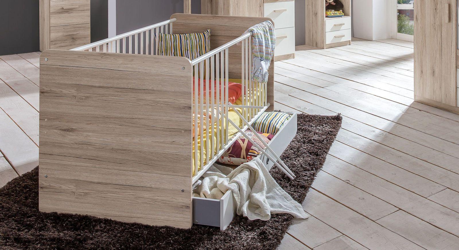 Babybett Tropea mit höhenverstellbarem Lattenrost