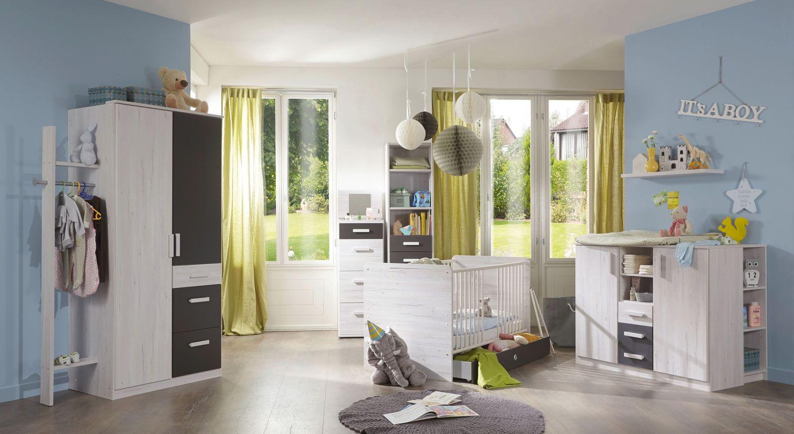 Modernes Babyzimmer Mereto in Weißeiche-Dekor