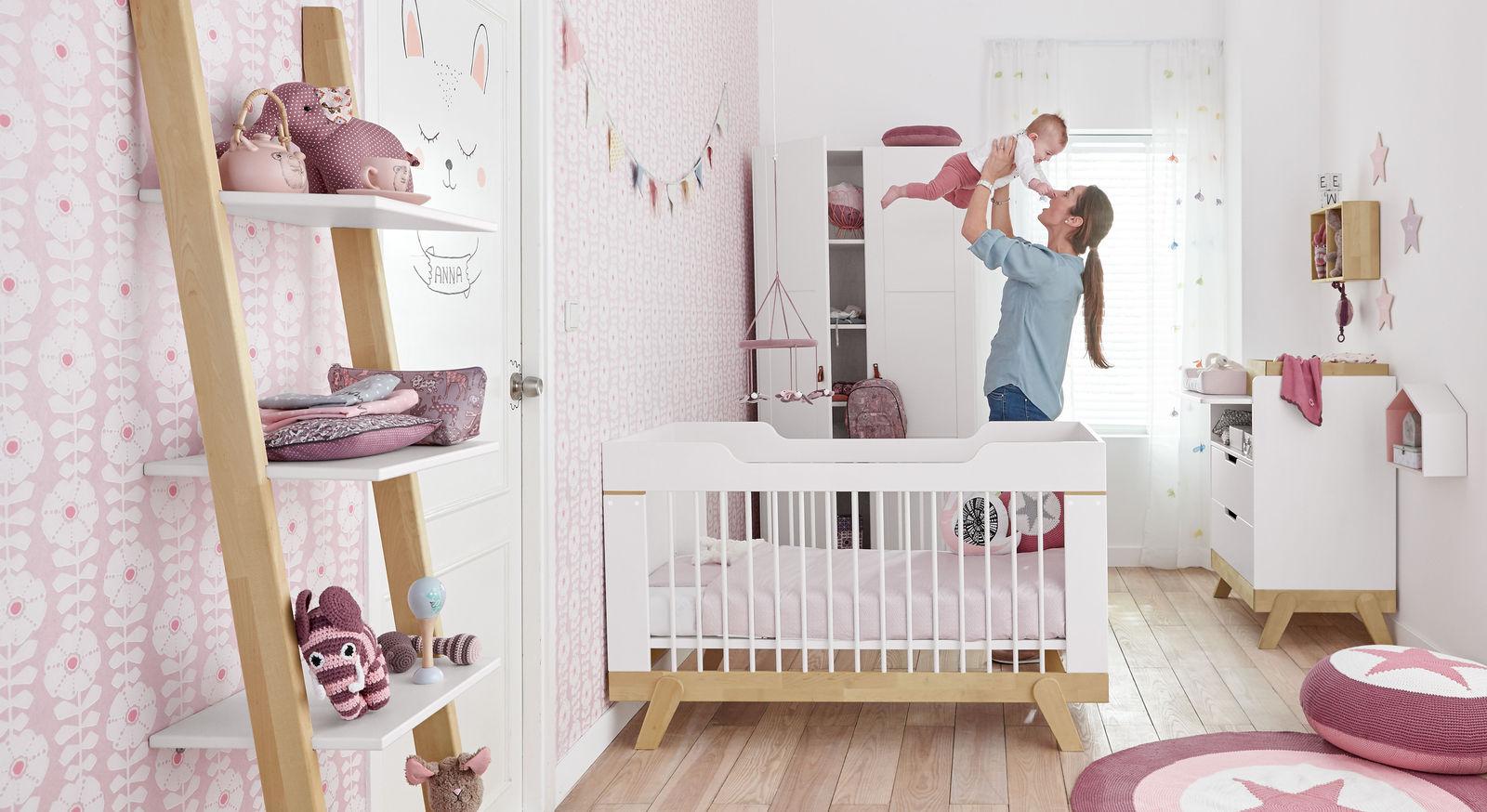 Modernes Babyzimmer lifetime wickelkommode schreibtisch aus massiver birke monina