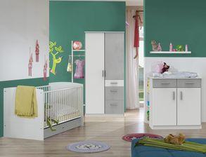 Babyzimmer Porvenir Aus Alpinweißem Und Betonfarbigem Dekor
