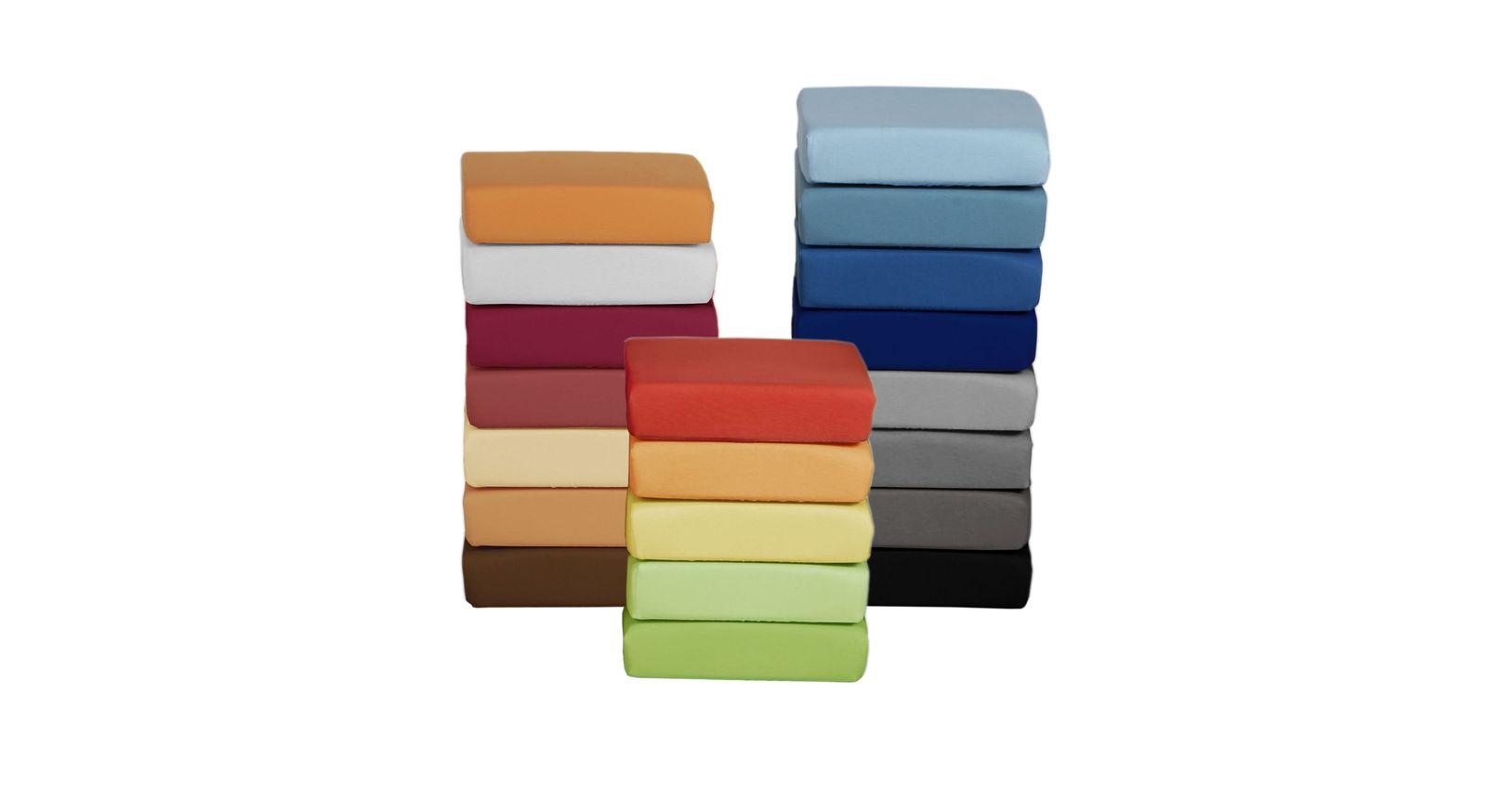 Große Farbauswahl beim Basic Spannbetttuch Mako-Jersey