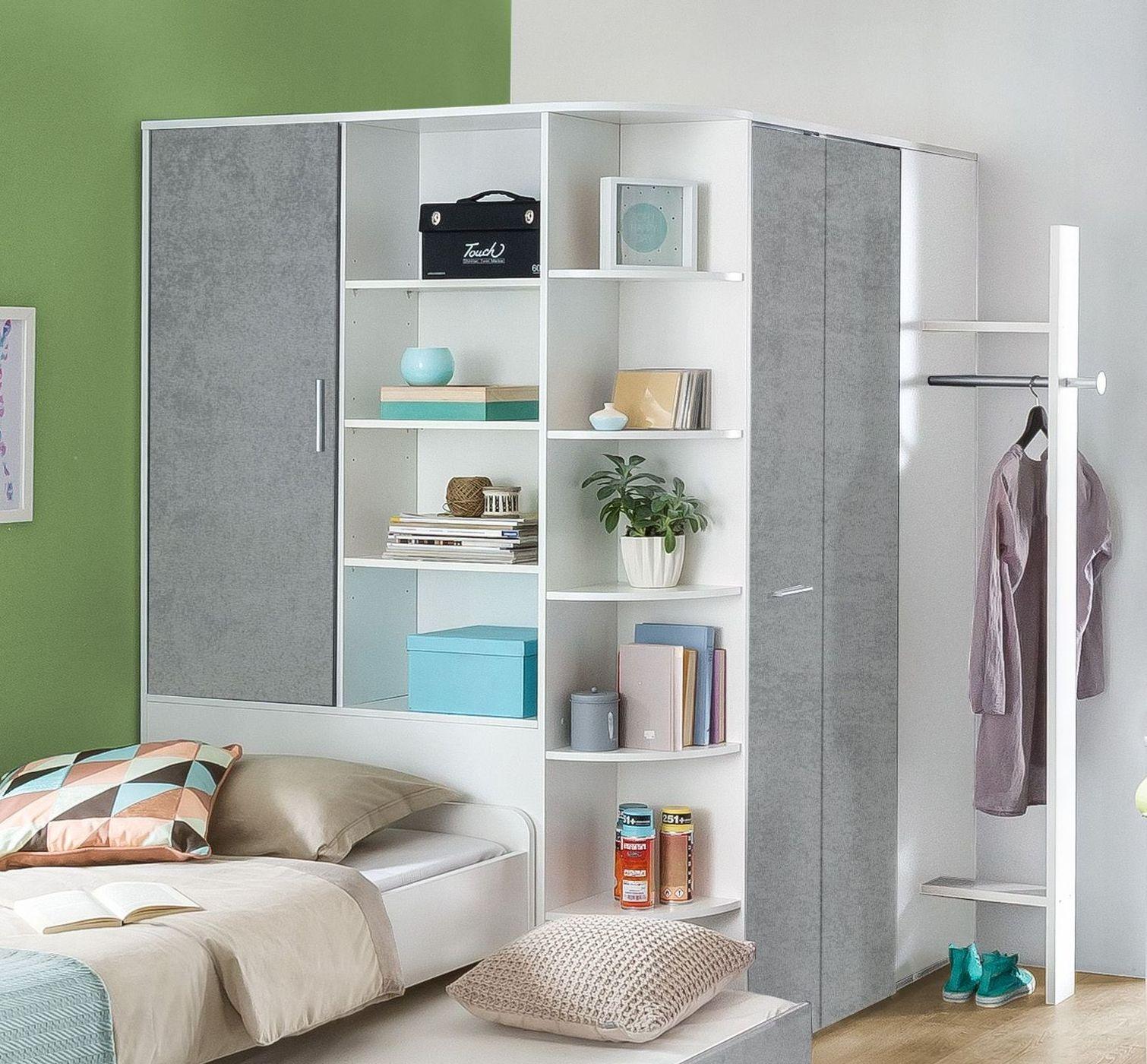begehbarer eck kleiderschrank mit beleuchtung porvenir. Black Bedroom Furniture Sets. Home Design Ideas