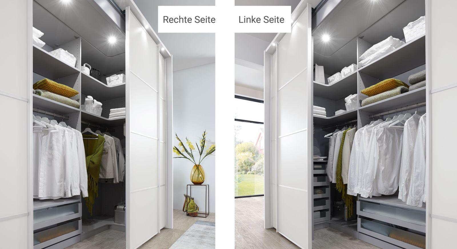 Begehbarer Kleiderschrank Plainville mit durchdachter Inneneinteilung