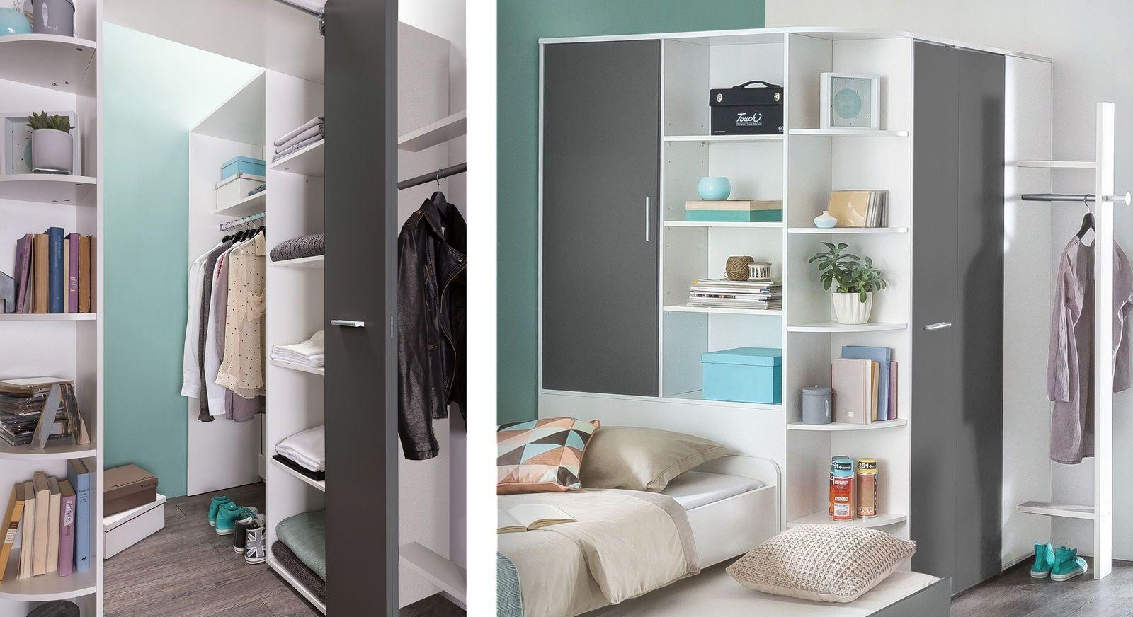 begehbarer kleiderschrank mit regalen f r jugendliche facundo. Black Bedroom Furniture Sets. Home Design Ideas