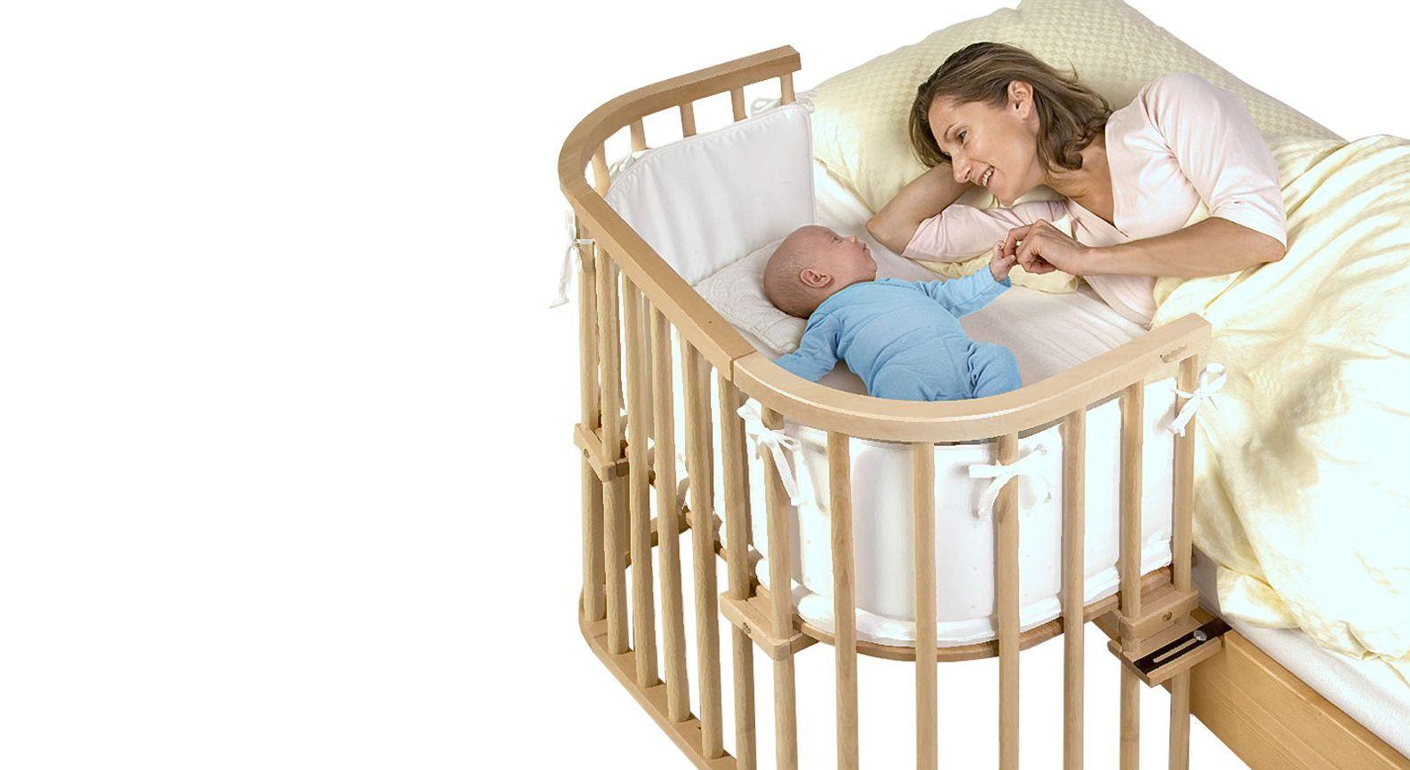 Beistellbett BabyBay Original aus Buche natur lackiert