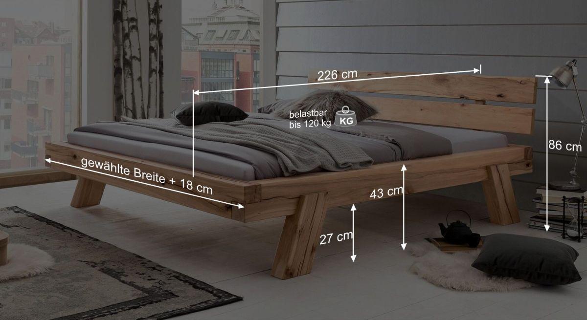 Bett Achils Bemaßungsgrafik