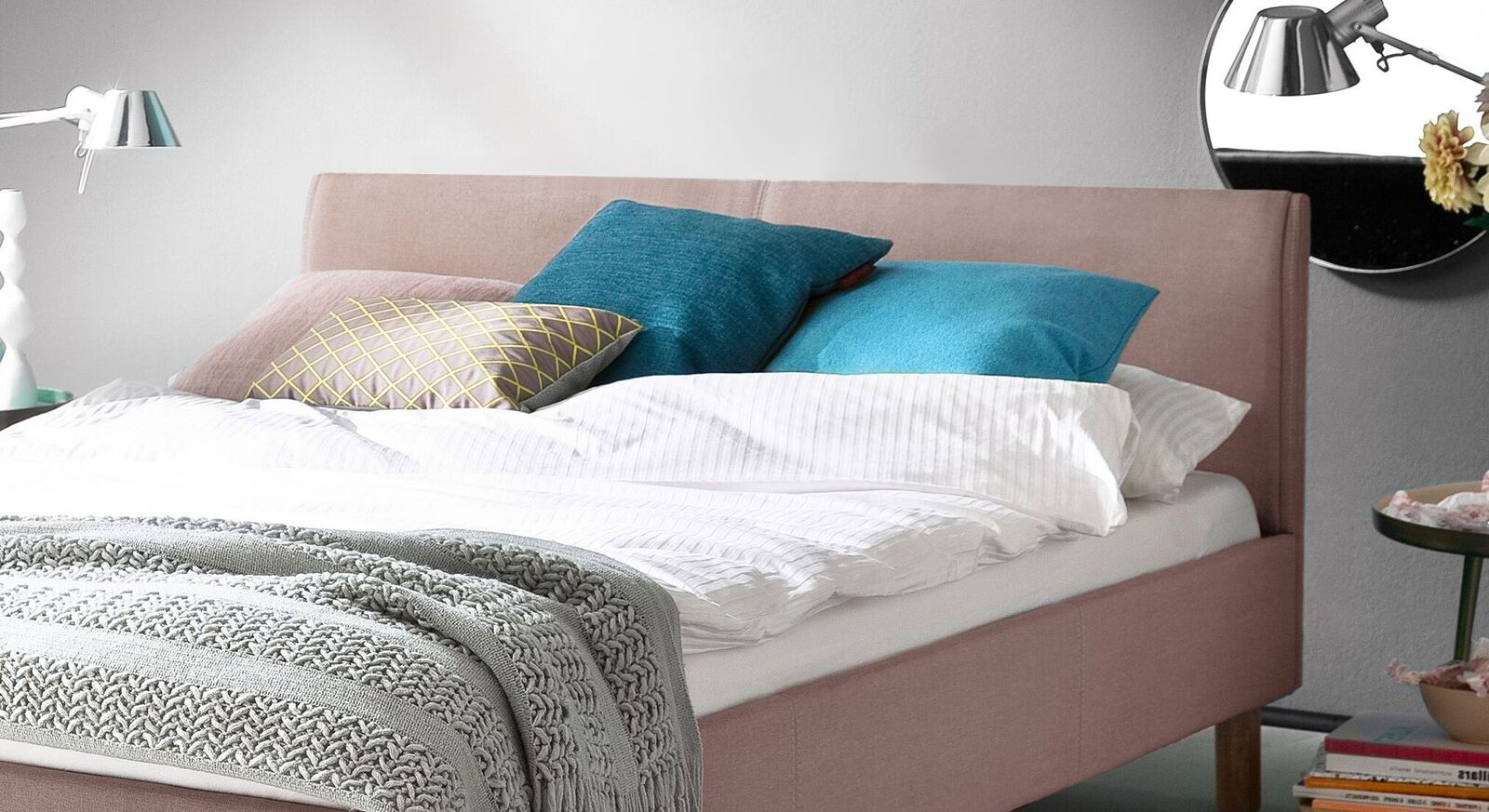 Vintage Bett Arensa inklusive Kopfteil