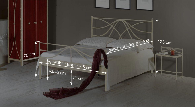 Bett Aricas Bemaßungsskizze