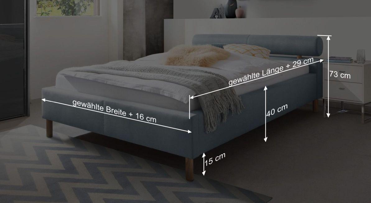 Bemaßungsgrafik vom Bett Arlet