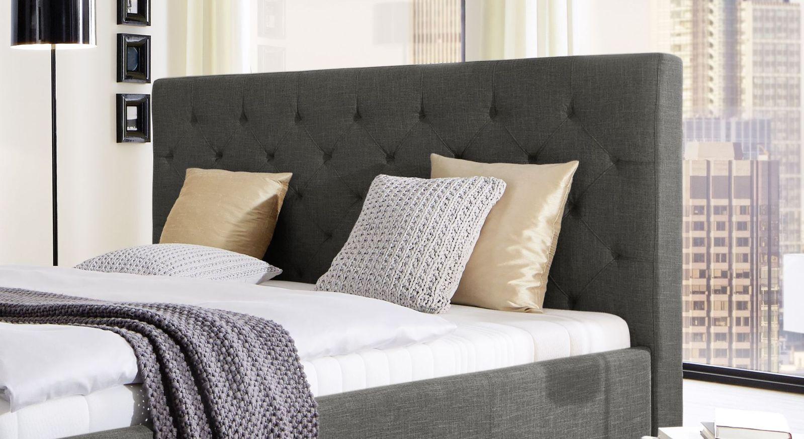 polsterbett mit hohem kopfteil free george hoch bett mit. Black Bedroom Furniture Sets. Home Design Ideas