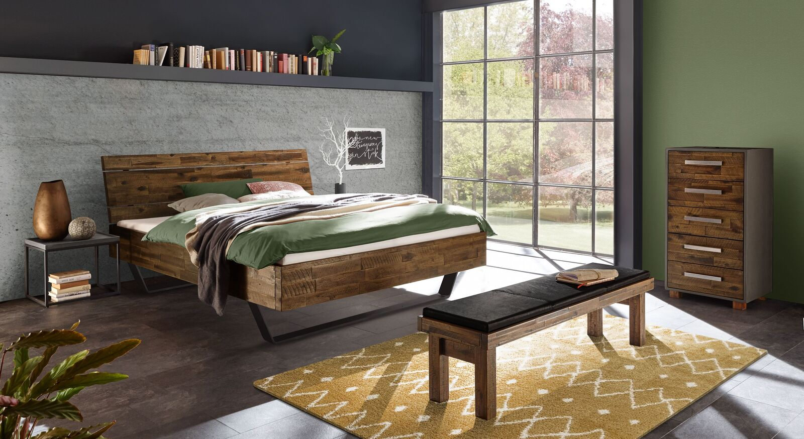 Passende Schlafzimmermöbel zum Bett Aulis