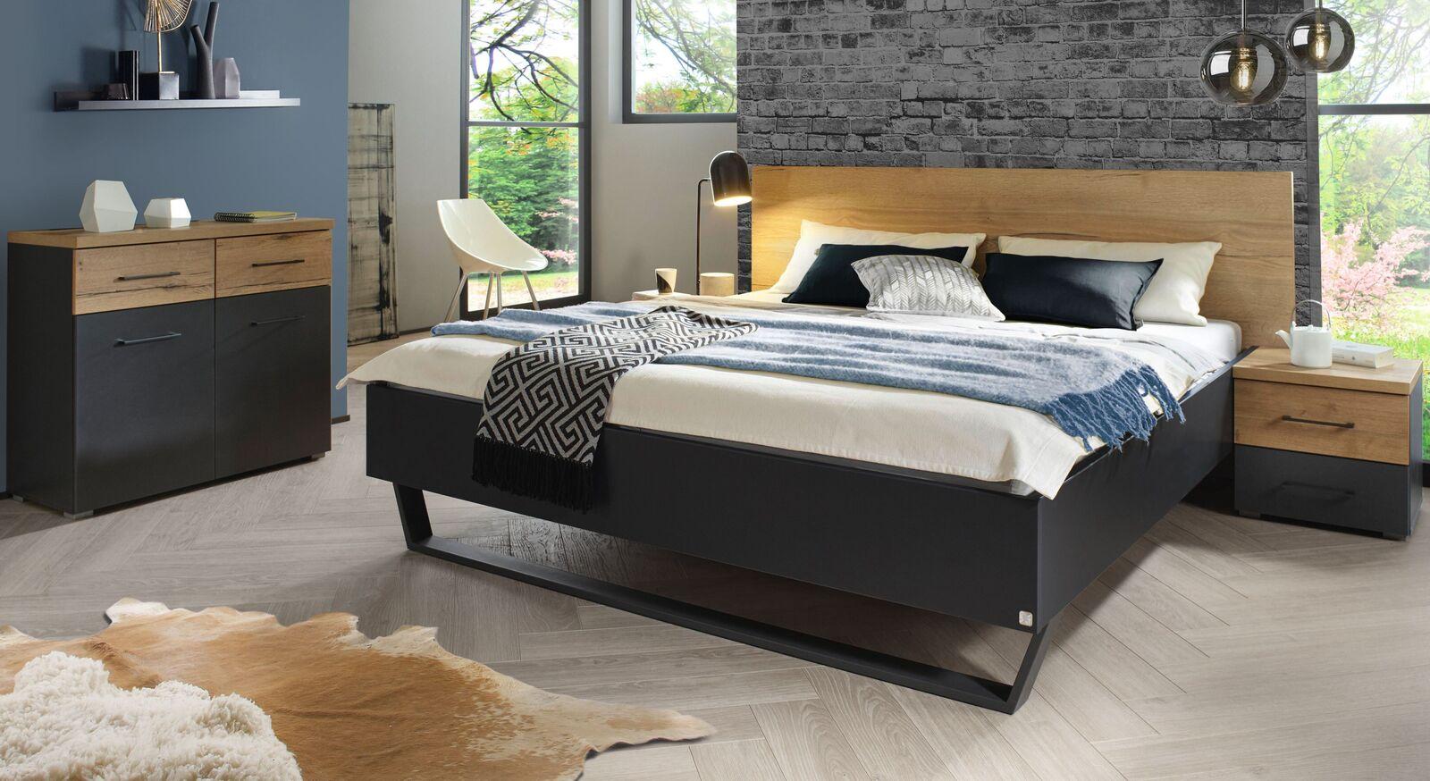 Bett Azula mit passenden Beimöbeln