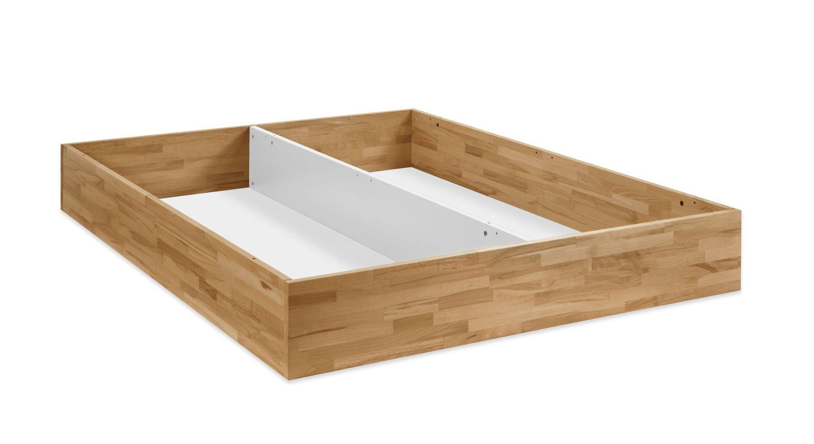 Bett Ballina mit geräumigem Bettkasten mit Bodenplatte