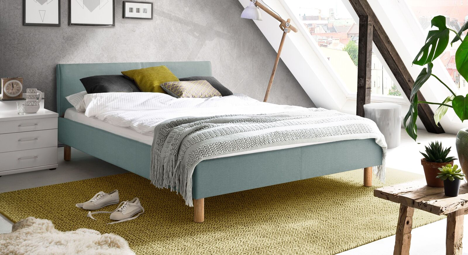 Bett Bela in angesagtem Retro-Look